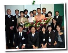 山形・酒田市民会館で演奏させて頂きました。 公演後、お世話になった花王の皆さまそして、頼近美津子さん、白石さんと。